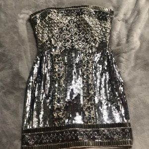 Bebe sequined dress / WORN ONCE For Birthday !